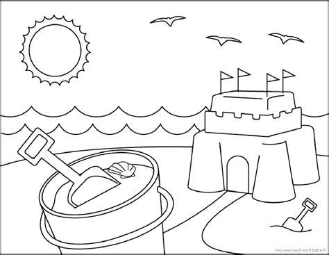 Розмальовки літо для дітей. Безкоштовно скачати літні