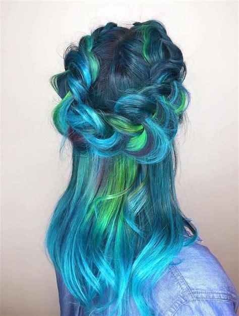 """Mermaid Hair"" Trend Has Women Dyeing Hair Into Sea"