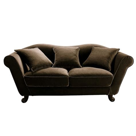 3 seat sofa in chocolate baroque baroque maisons du monde