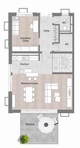 Haus Grundriss Ideen Einfamilienhaus : doppelhaush lfte typ a erdgeschoss mit terrasse 74 85 ~ Lizthompson.info Haus und Dekorationen