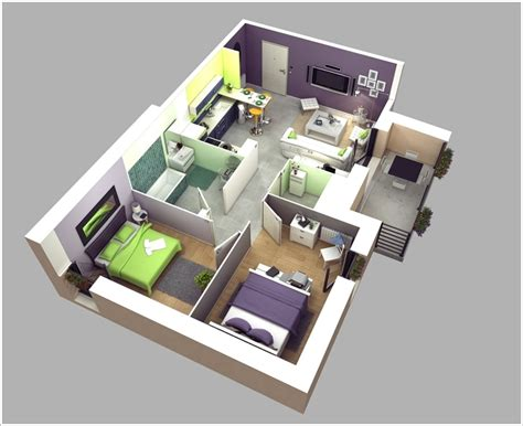 awesome bedroom apartment floor plans architecture design