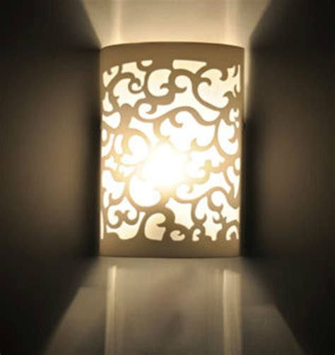 modern up dow arc hollow out white wall light sconce lighting l indoor fashion bedroom