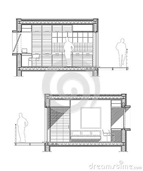 dessin d une chambre dessin technique d 39 une section d 39 une chambre d 39 étudiant
