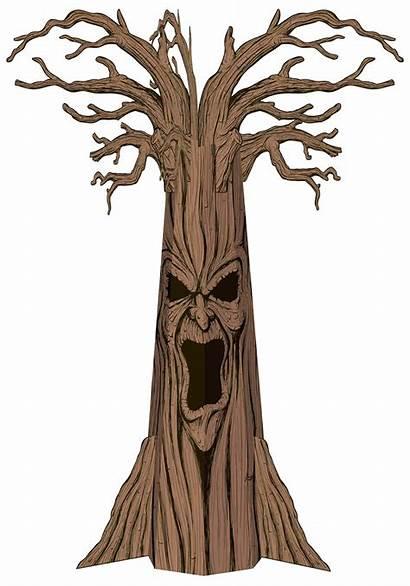 Tree Trunk Clipart Evil Clipartfox Clipartbarn Split