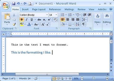 Format In Ms Word by Copy Font Paragraph Object And Cell Formatting