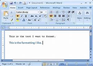 copy font paragraph control object and cell formatting With formatting documents in microsoft word