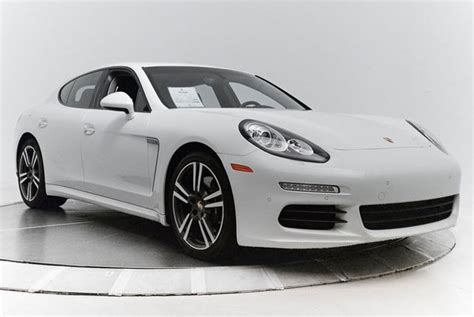 panamera porsche white certified pre owned 2014 porsche panamera in white
