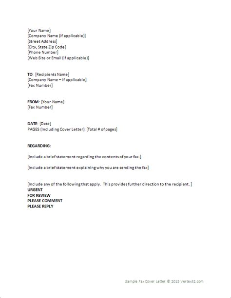 Word Fax Cover Letter Fax Cover Letter Template For Word