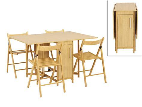 photo de cuisine ouverte sur sejour ensemble modulable table 4 chaises emeline hêtre massif