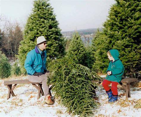cutting a christmas tree at a tree farm history grand rapids