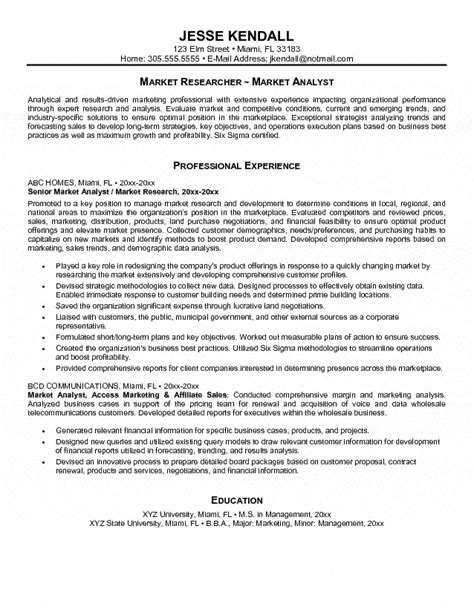 market analyst resume