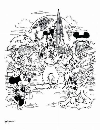 Coloring Disney Pages Welcome Disneyland Re Therapy