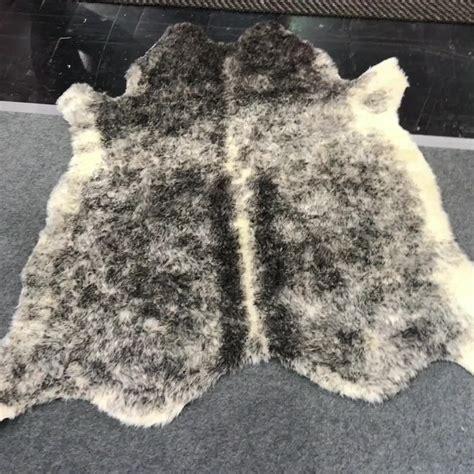 Cowhide Price by Cheap Price Artificial Skin Sofa Rug Brown Faux Fur
