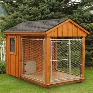 Amish cedar dog kennel 6 x 10 furry friends for Amish dog kennel plans