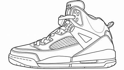 Jordan Nike Shoe Outline Coming Air Coloring
