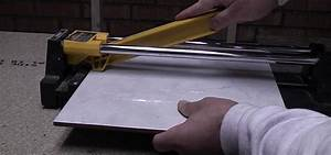 How to cut ceramic floor and wall tile with a tile cutter for How to cut ceramic floor tile