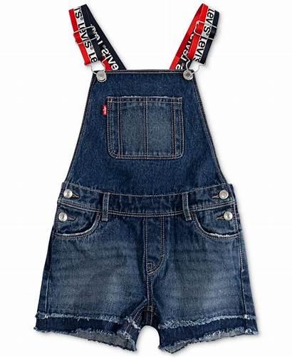Levi Macys Shortall Denim Cotton Little Outfits