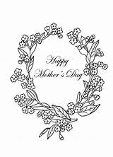 Coloring Mothers Pages Mother Drawings Forget Clipartqueen Clip sketch template