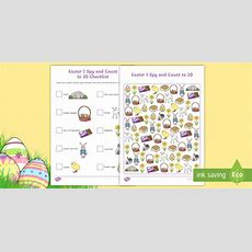 * New * Easter I Spy And Count Activity To 20