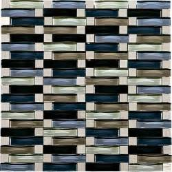 phase mosaics stone and glass wall tile 5 8 quot x 2 quot wave at