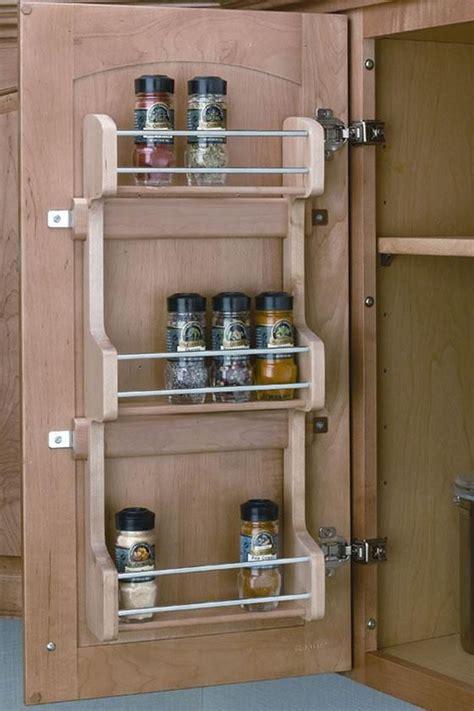 mount  spice rack      cupboard door
