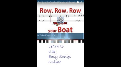 Row Your Boat Easy Piano by Row Row Row Your Boat Easy Piano Songs For Beginners
