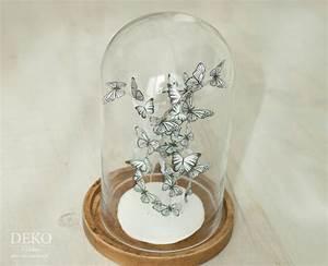 Papier Auf Glas Kleben : diy s er schmetterlingsschwarm unter glas deko kitchen ~ Watch28wear.com Haus und Dekorationen