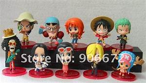 one piece new world straw hat pirates action figure set of ...