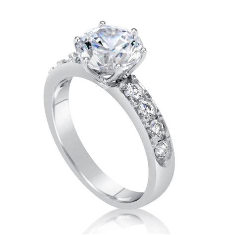2 7 carat round cut diamond engagement ring ara diamonds