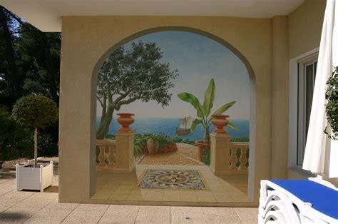 troc echange fresque peinture murale trompe l oeil sur troc