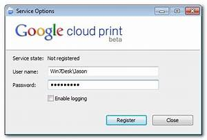 how to enable native google cloud printing and printer With google docs username and password