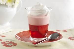 Cremoso postre de gelatina de fresas Receta Comida Kraft
