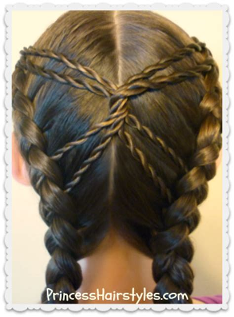 hourglass braid cute hairstyles hairstyles  girls