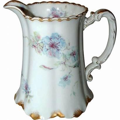 Porcelain Pitcher Antique Jug Milk Limoges Haviland
