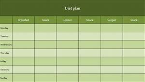 Diet Plan As Excel Template