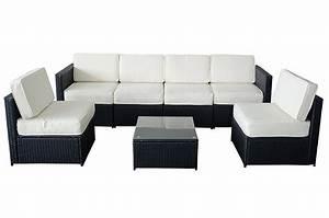 Amazoncom mcombo 6085 s1007 7 piece wicker patio for Indoor outdoor sectional sofa