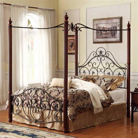 Bedroom 24 Elegant Iron Canopy Bed Designs To Inspire
