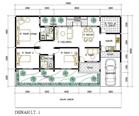 denah rumah  lantai model  denah rumah ukuran