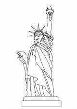 Liberty Statue Coloring Getcolorings sketch template