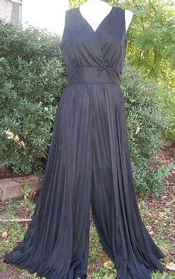 disco dress vtg vintage palazzo jumpsuit dress black disco 70s