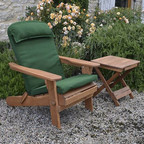 adirondack chair luxury high back cushion by plant theatre