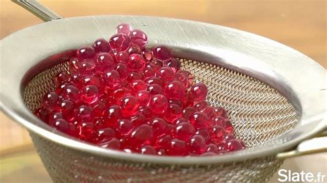 le caviar de grenadine la recette de cuisine moléculaire