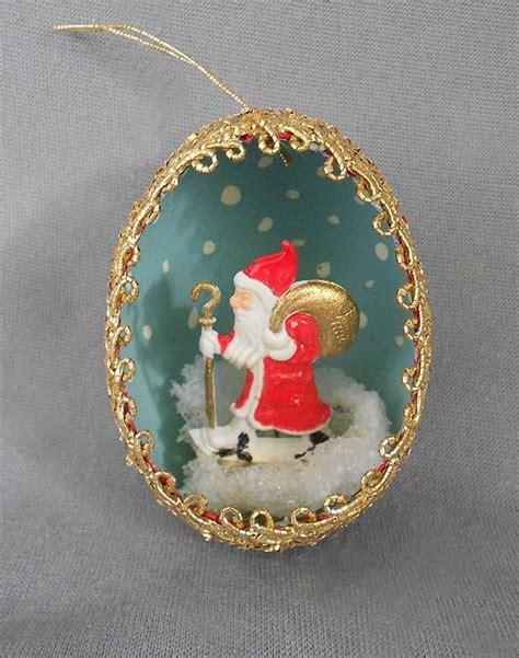 vintage diorama egg ornaments 1940s 1950s vintage genuine goose egg diorama ornament ws h ornaments