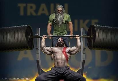 4k Wallpapers Training Kratos Father Workout Powerlifting