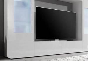 Tv Wand Weiß Hochglanz : wohnwand mediawand kino 2 tv wand anbauwand in wei hochglanz inkl led ebay ~ Indierocktalk.com Haus und Dekorationen
