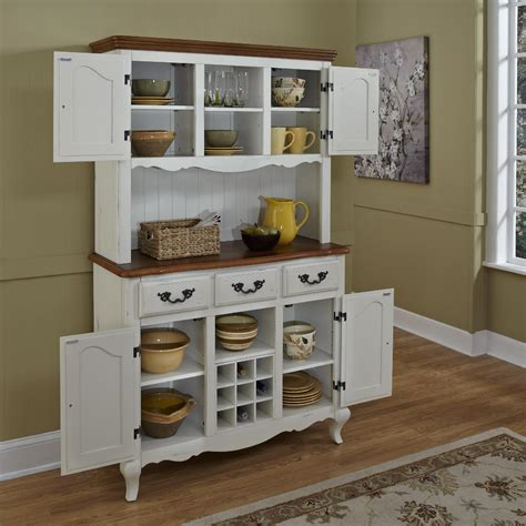 home styles oak  rubbed white french countryside buffet