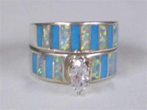 native american indian navajo wedding ring set turquoise