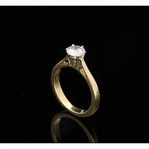 077ct diamond engagement ring 18ct yellow gold second hand With 2nd hand wedding rings