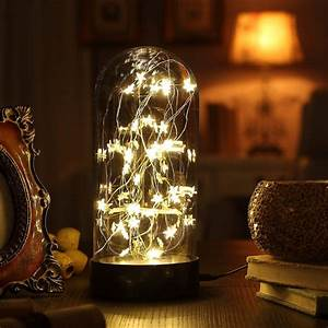 Decorative, Fairy, Night, Light, Xy, Decor, 11, U0026quot, Dual, Power, Operated, Table, Desk, Lamp, With, Warm, White