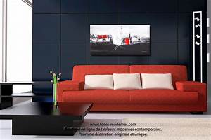 salon tableau salon rouge tableau salon rouge or tableau With couleur moderne pour salon 9 tableau panoramique noir blanc design grand format
